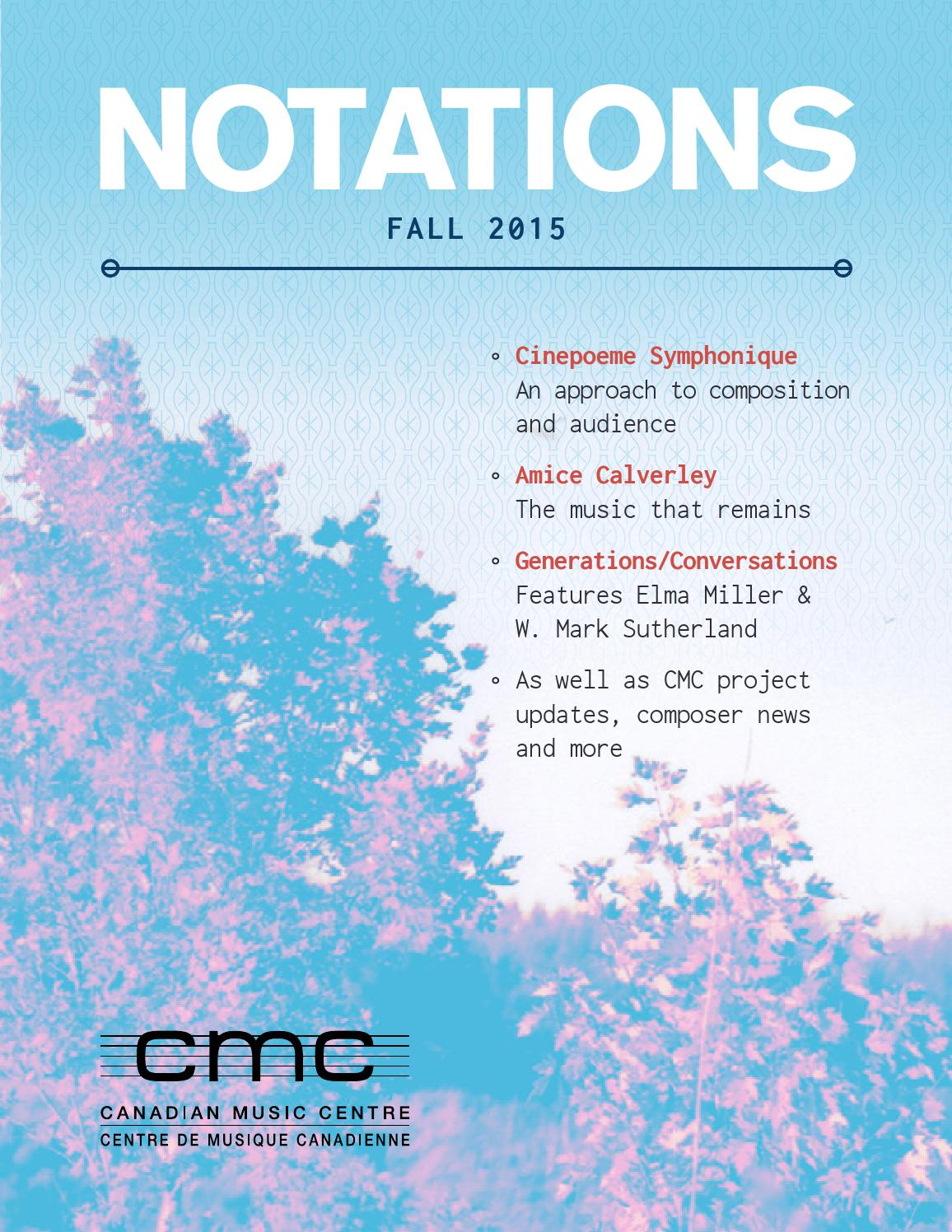 Notations Fall 2015 by CMC Ontario Regional Director - issuu
