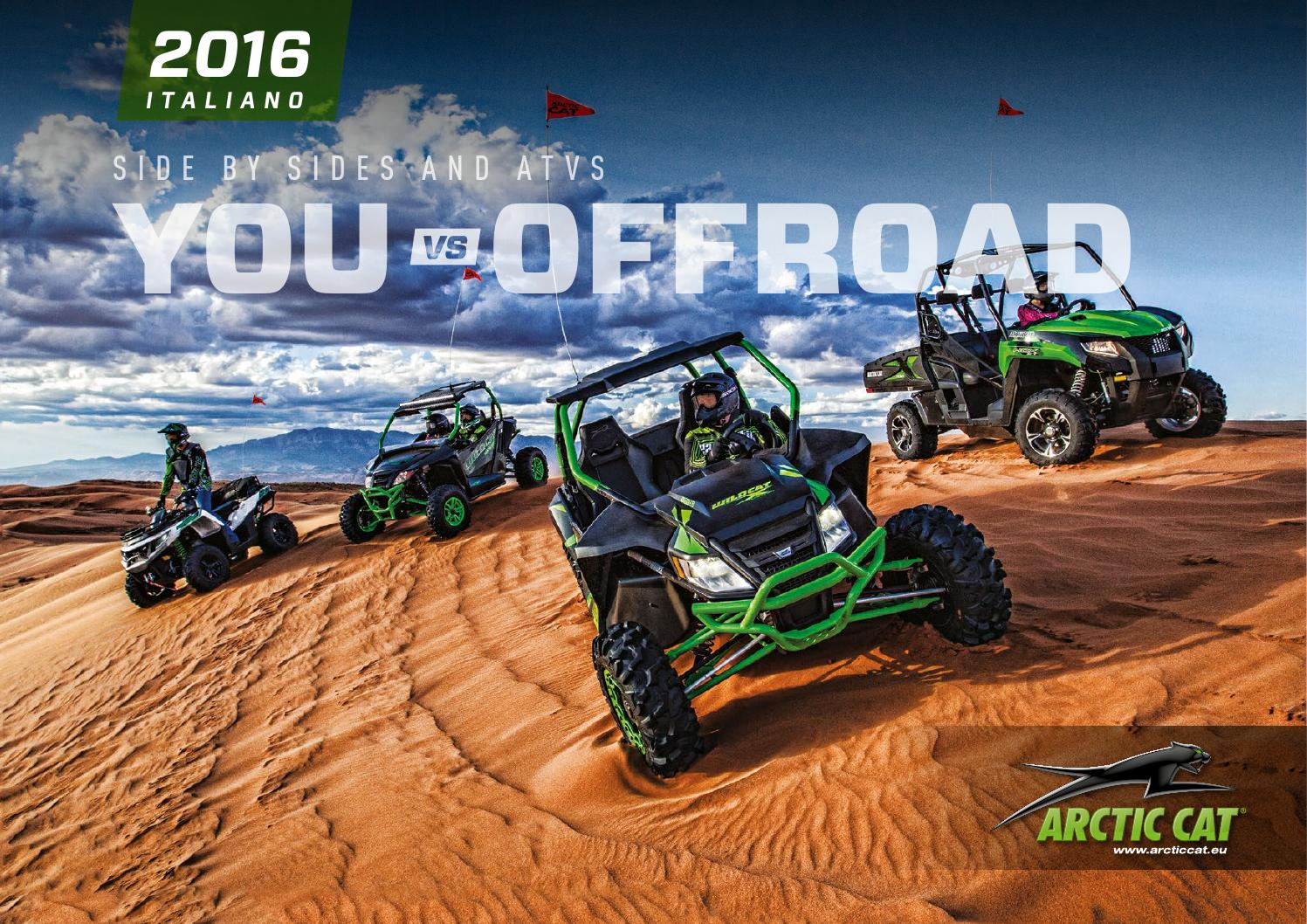 arctic cat europe atv and side by side brochure 2016 italian by textron off road issuu. Black Bedroom Furniture Sets. Home Design Ideas