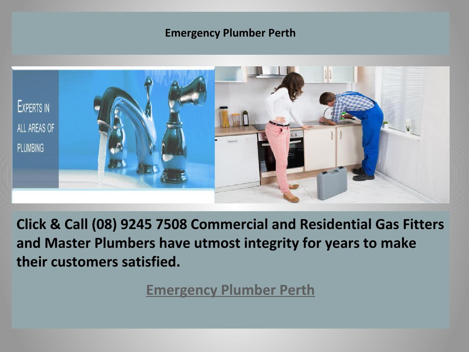 Emergency Plumber Perth By The Plumbing And Gas Guys Issuu