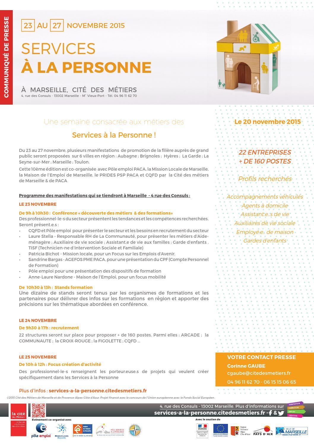 Services A La Personne By Cite Des Metiers De Marseille Et De Paca
