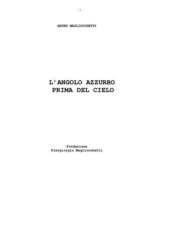 L  angolo azzurro prima del cielo by BRUNO MAGLIOCCHETTI - issuu ce75ea892288