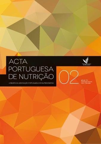 1e5296f698692 Acta Portuguesa de Nutrição nº2 by Associação Portuguesa de Nutrição ...