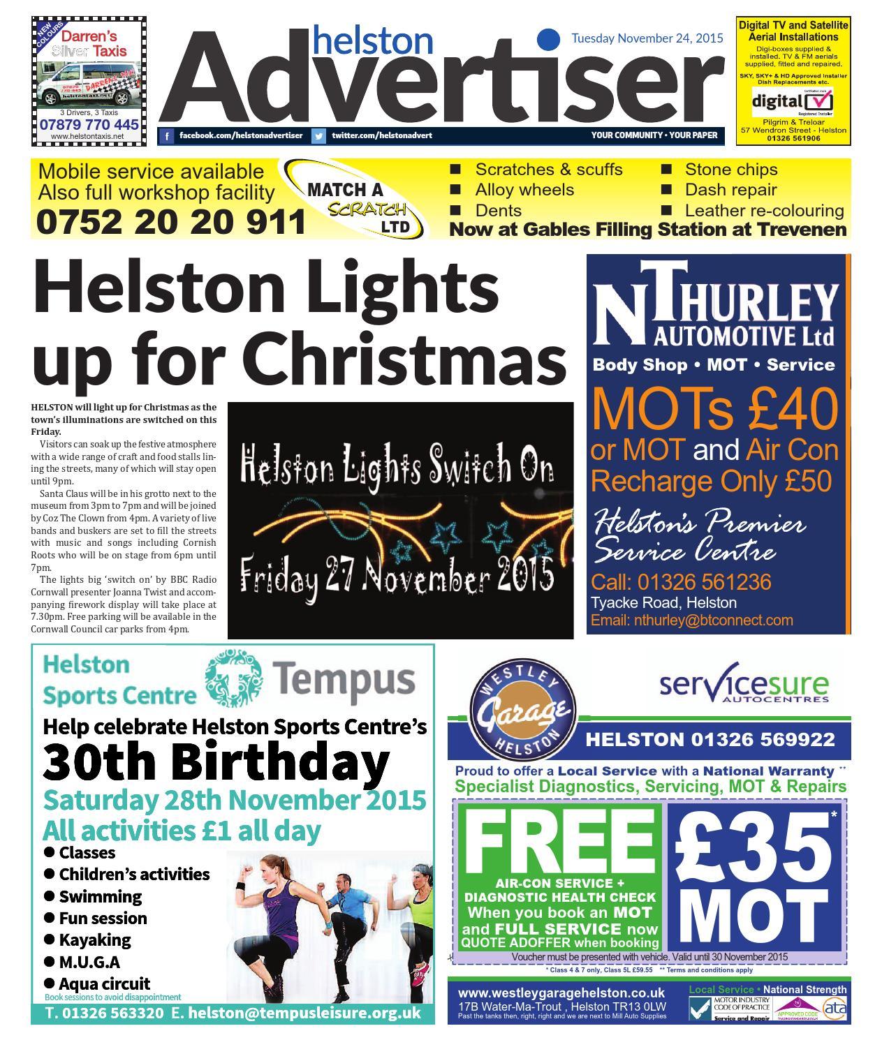 low cost 6d9e6 832e5 Helston Advertiser - November 24th 2015