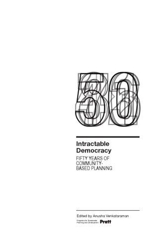 Intractable Democracy By Pratt Institute Issuu