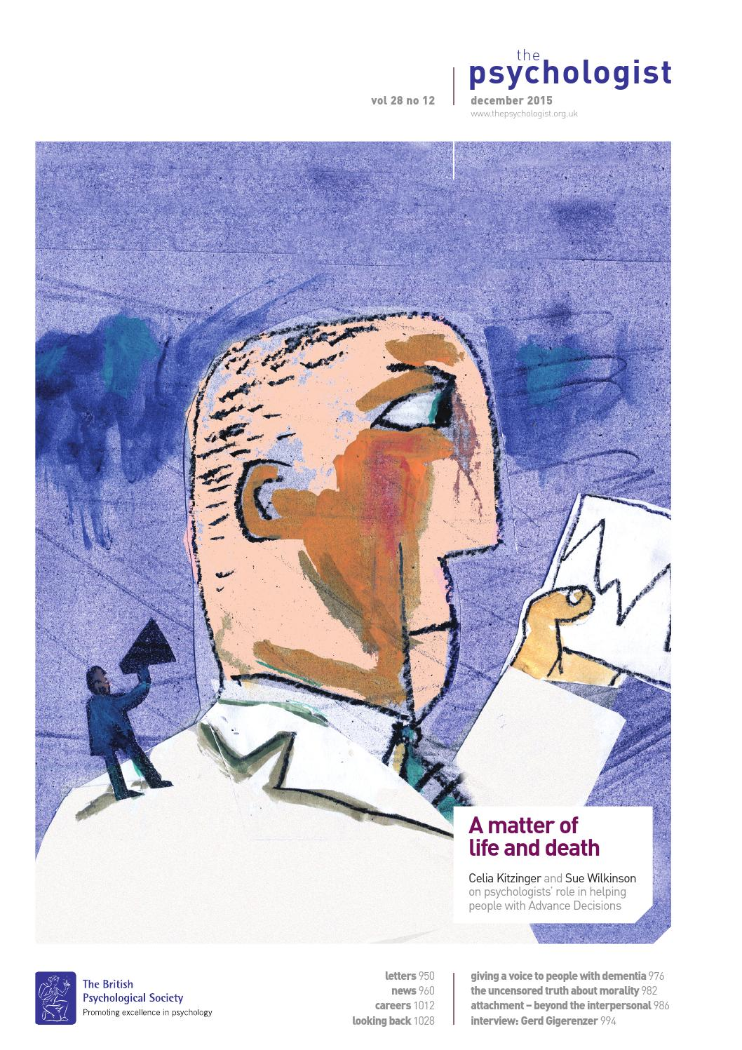 The Psychologist December 2015 By The British Psychological Society