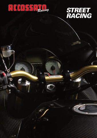Accossato Manubrio Street Racing in alluminio HB174 piega media* VERDE