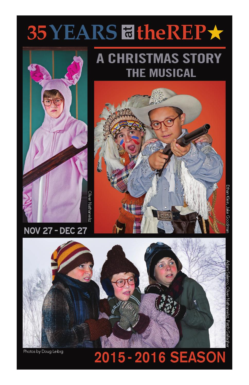 A Christmas Story, The Musical! Playbill by theRep - issuu
