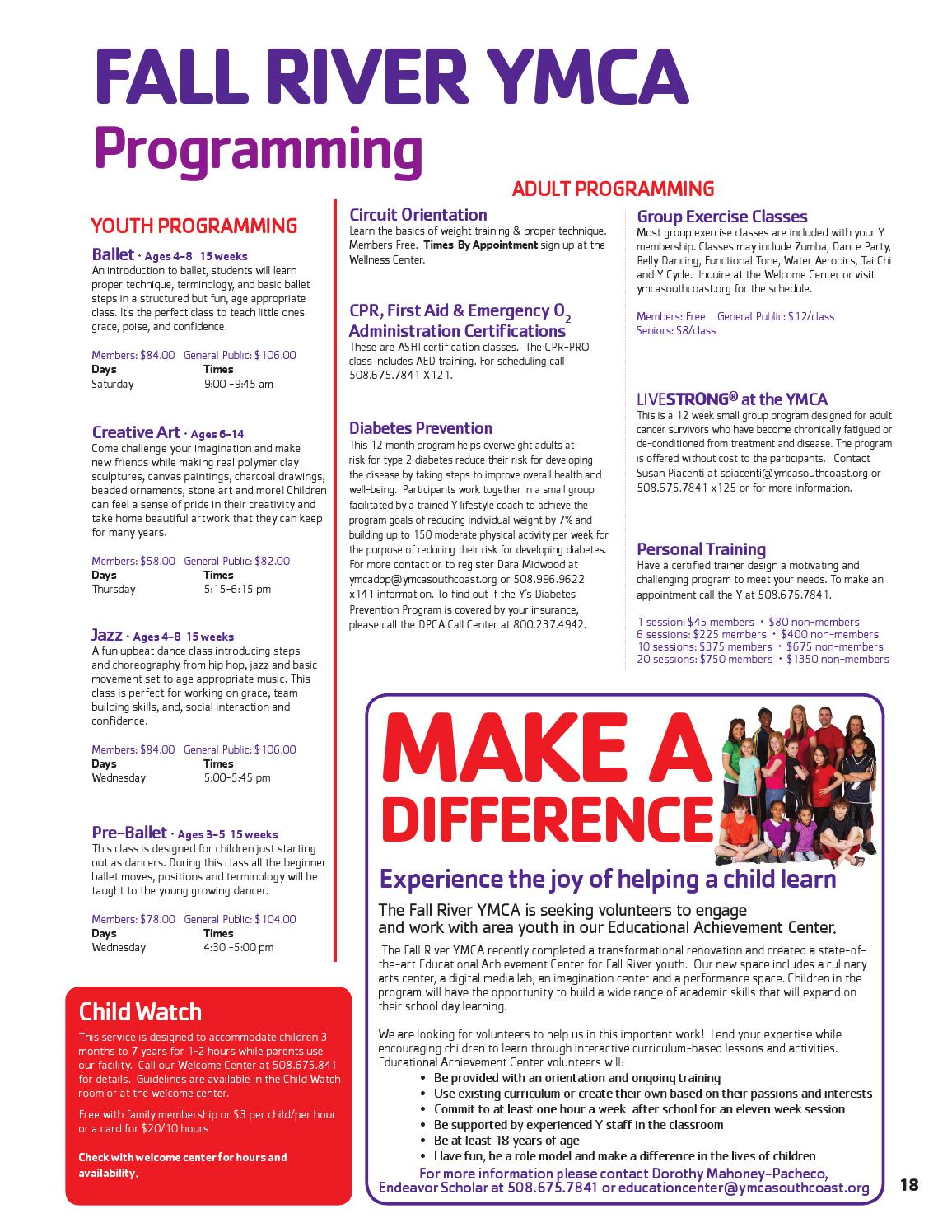 Winter 2016 Program Guide By Ymca Southcoast Issuu