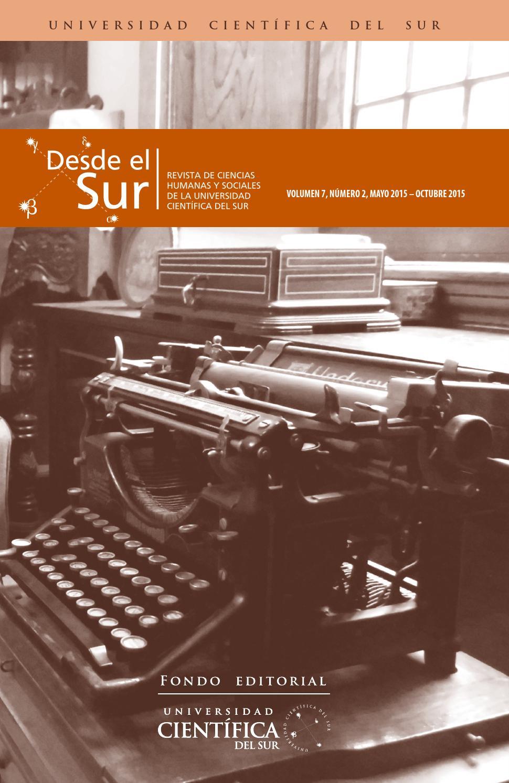 de0841dc061f Desde el Sur Vol 7 N° 2 by Biblioteca Cientifica - issuu