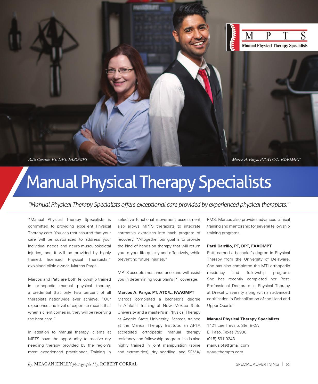 Advance physical therapy magazine - The City Magazine November 2015 By The City Magazine El Paso Las Cruces Issuu