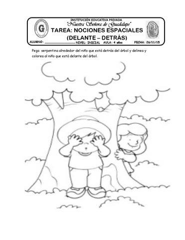 Tarea Delante Detras By Katy Hormiguita Issuu