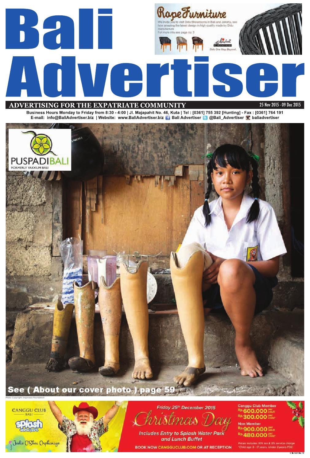 Ba 25 November 2015 By Bali Advertiser Issuu Andrew Smith Green Denim Hijau 30