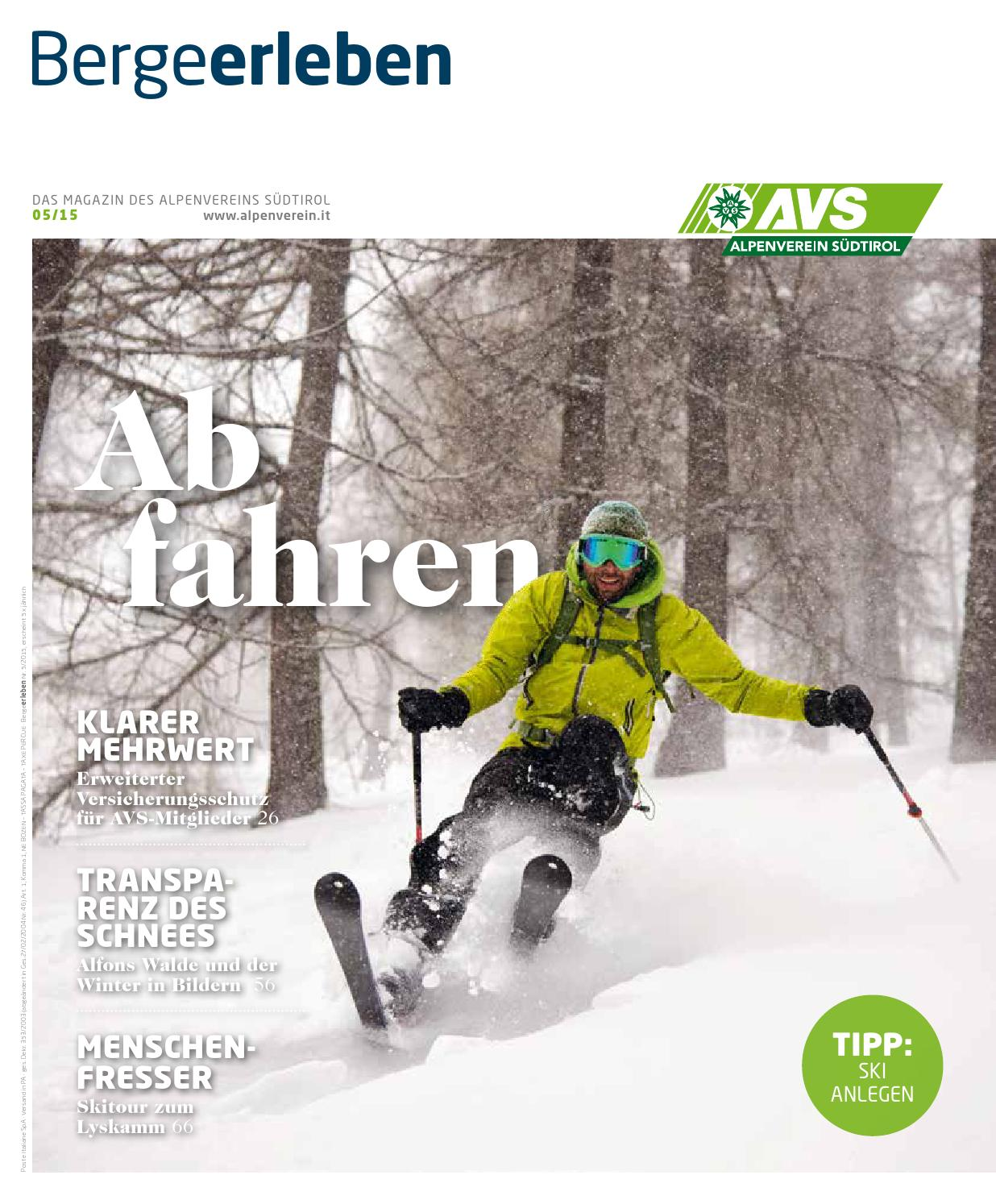 Bergeerleben AVS Magazin November 2015 by Alpenverein