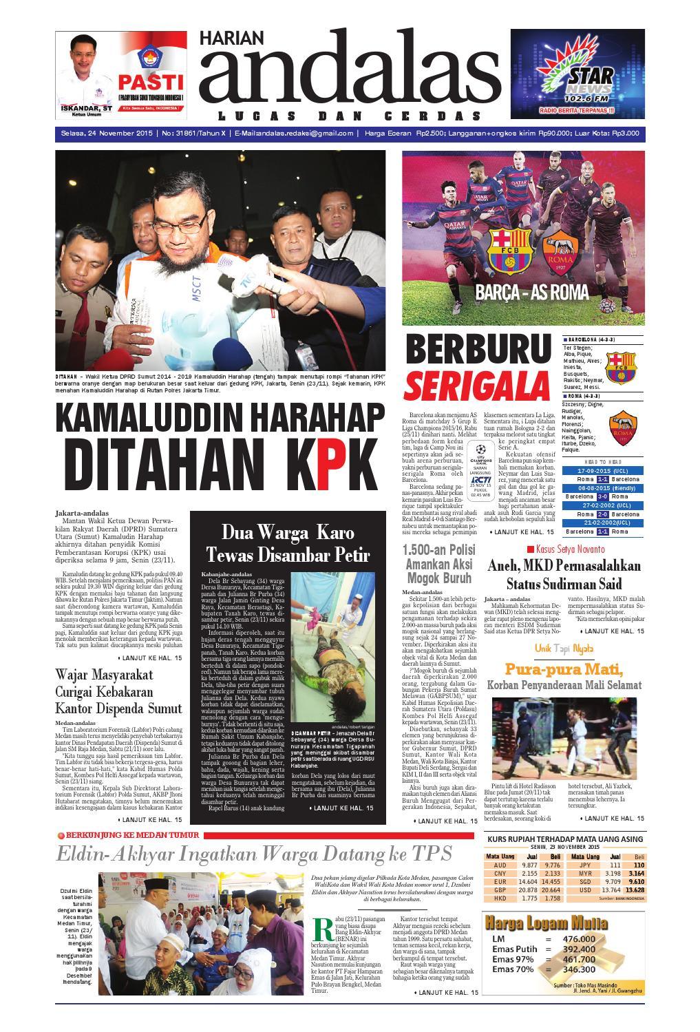 Epaper andalas edisi selasa 24 november 2015 by media andalas - issuu 34388c432bcb8