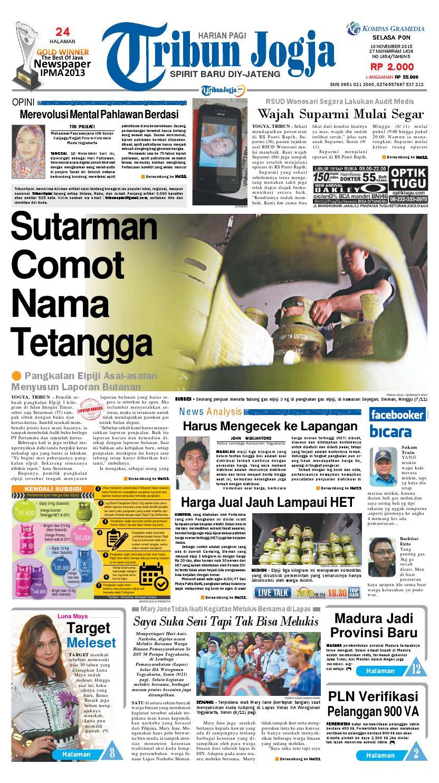 Tribunjogja 10 11 2015 By Tribun Jogja Issuu Produk Ukm Bumn Bale Sehat Teh Rosella Merah 3 Box