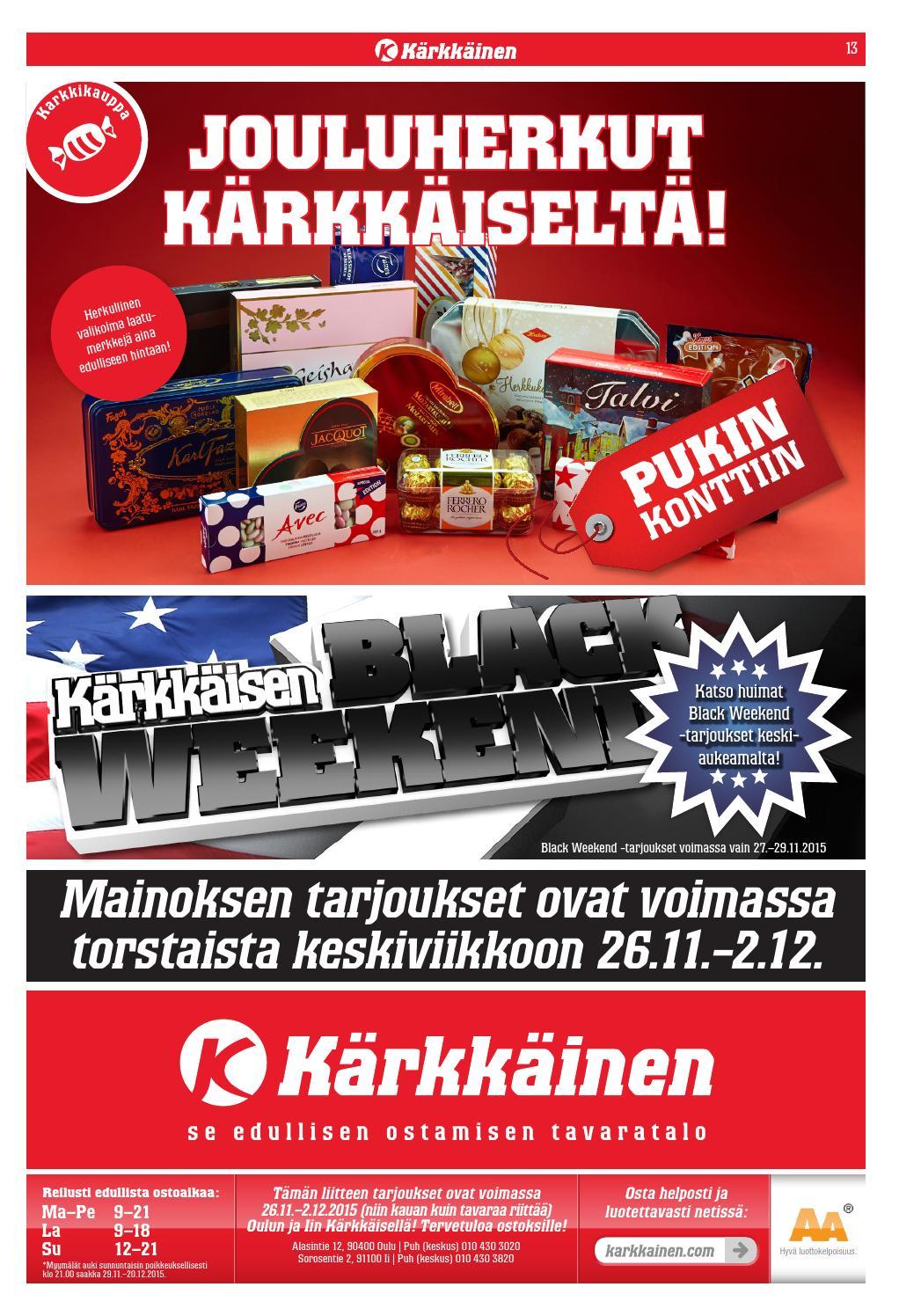 best online thoughts on good Kärkkäisen mainos (48/2015, Pohjoinen) by Tavaratalo J. Kärkkäinen ...