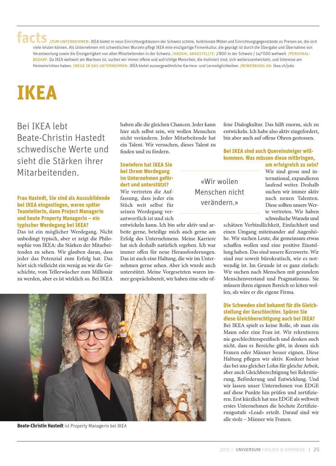 universum frauen und karriere 2015 by universum issuu - Ikea Bewerbung