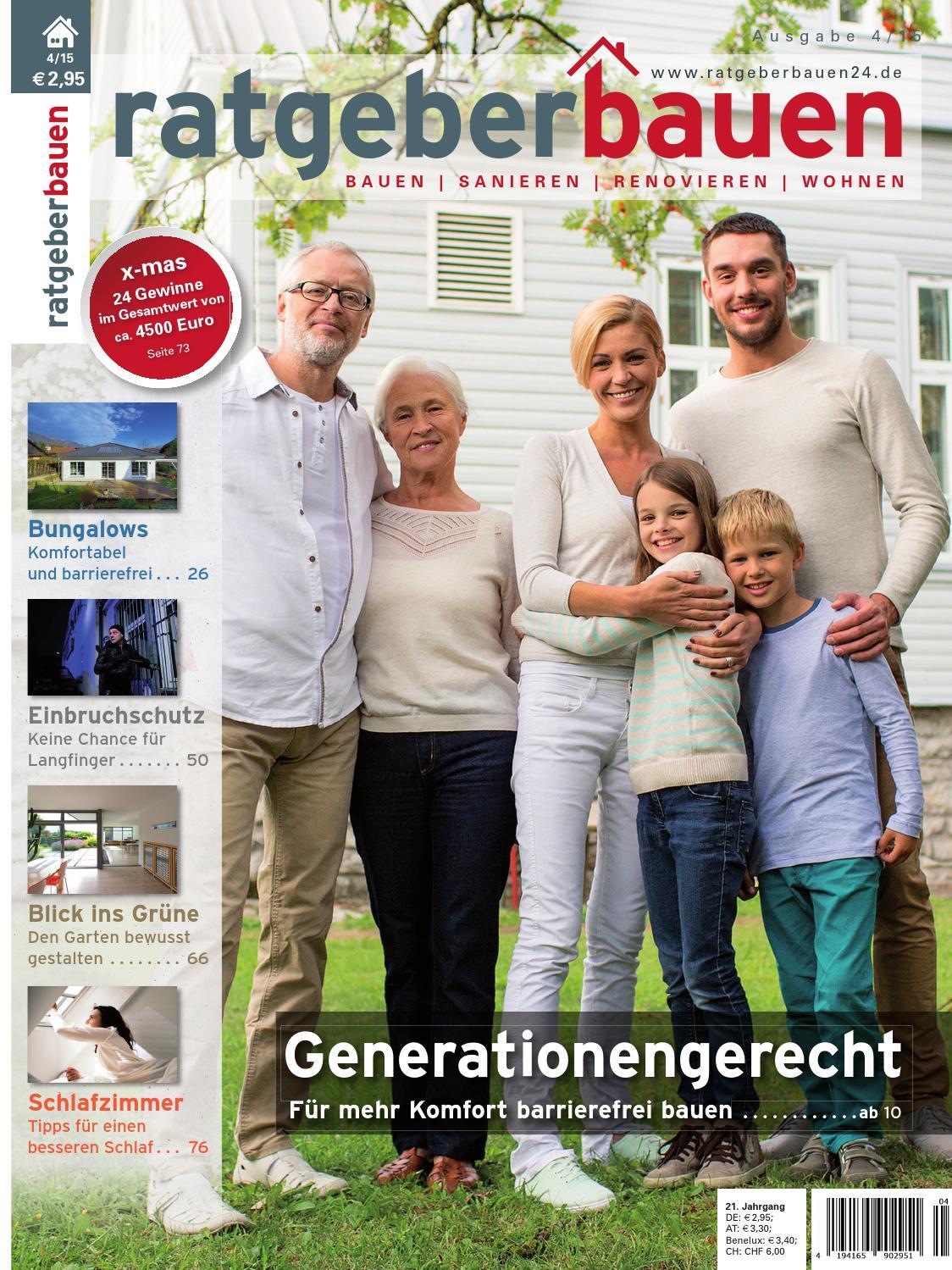 Ratgeber bauen 4 2015 generationengerecht bauen by for Ratgeber bauen
