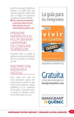Carte Assurance Maladie Immigrant.Immigrer Au Quebec Le Guide Pour Les Immigrants By