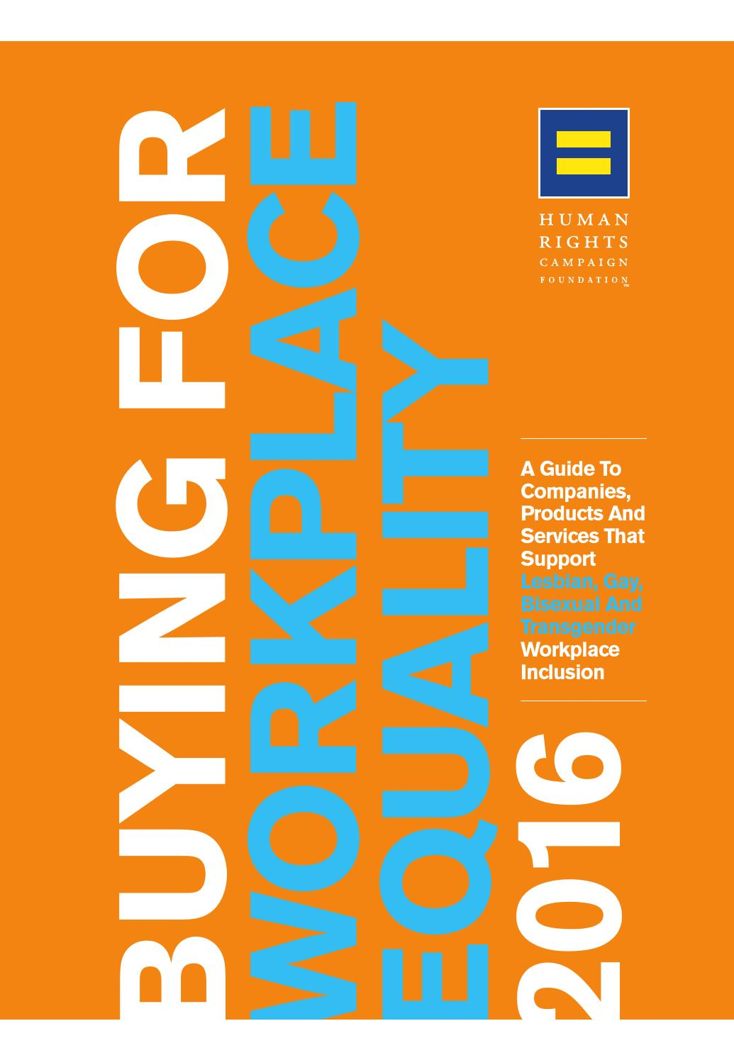 Buying for Workplace Equality 2016 by Human Rights Campaign - issuu 1454da274