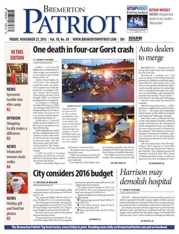 Bremerton Patriot, November 27, 2015 by Sound Publishing - issuu