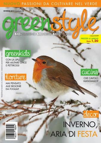 Greenstyle Inverno 2015 By Edizioni Laboratorio Verde Issuu