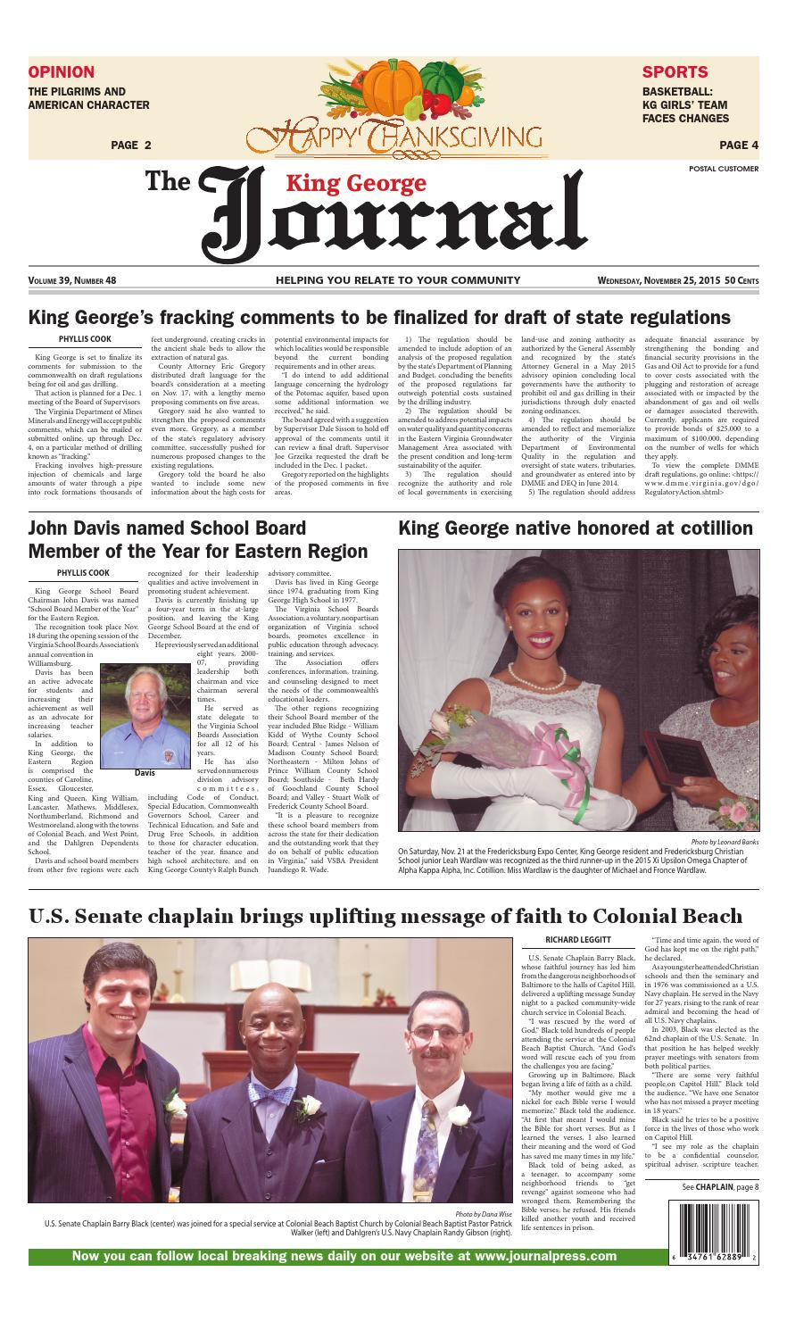 11 25 2017 King George Va Journal By