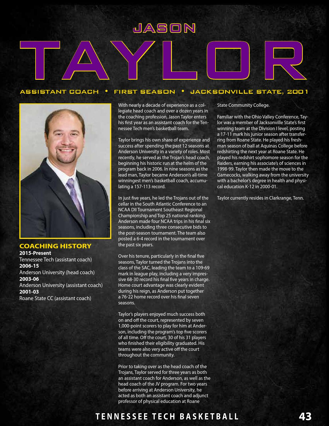 2015 16 Tennessee Tech Men S Basketball Digital Guide By Tennessee Tech Sports Information Issuu