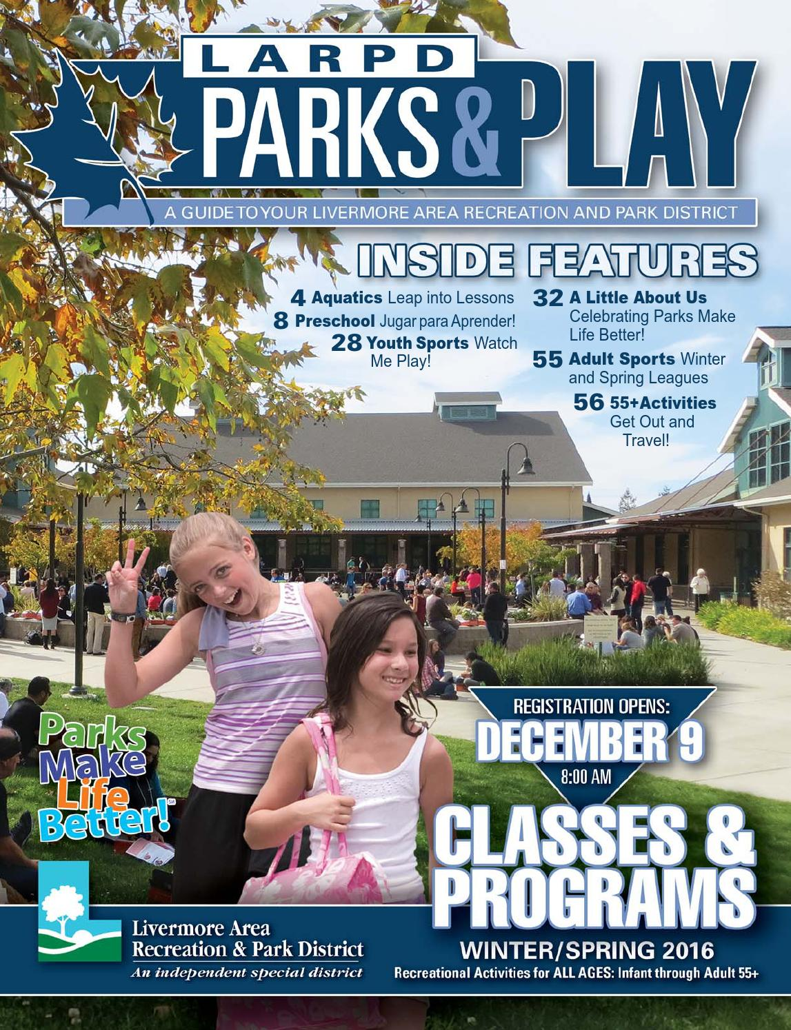 Livermore Area Recreation & Park District Winter/Spring 2016