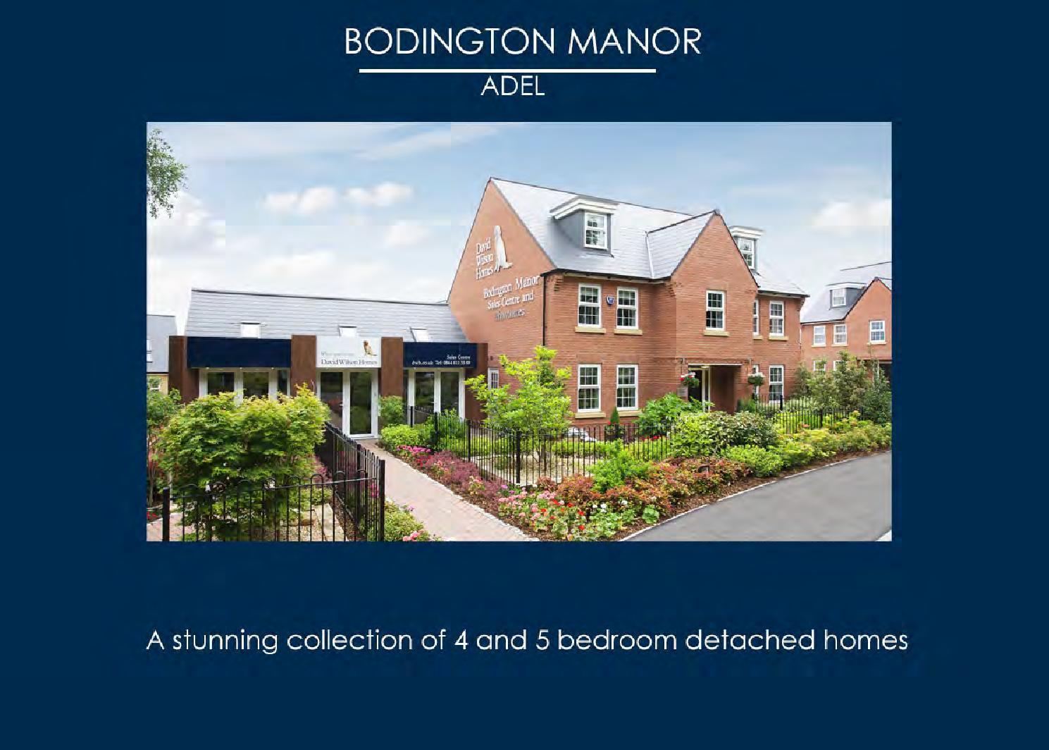 Bodlington Manor David Wilson By Newhomesforsale Co Uk Issuu
