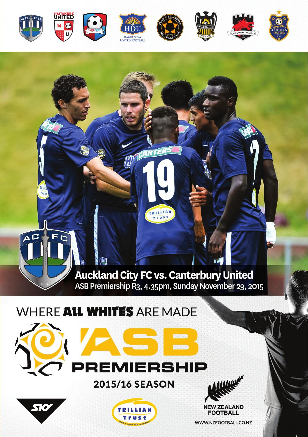 Match Programme Auckland City Fc V Canterbury United By