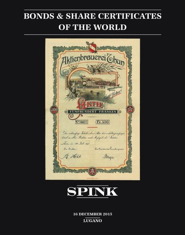 Bonds & Share Certificates of the World - SW1017 by Spink and Son ...