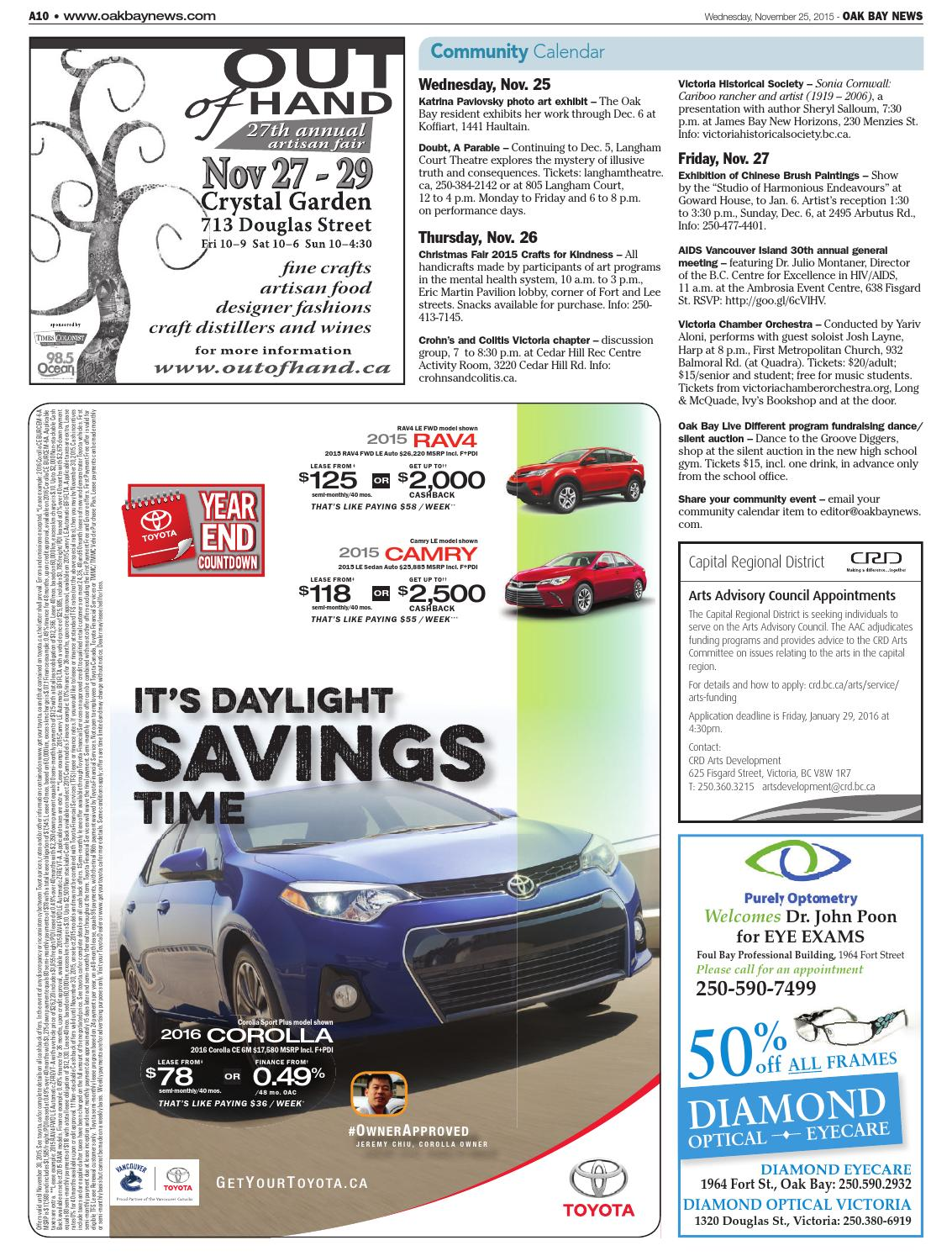Oak Bay News November 25 2015 By Black Press