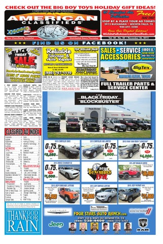 Digital edition 11 26 15 by Wichita Falls American Classifieds - issuu