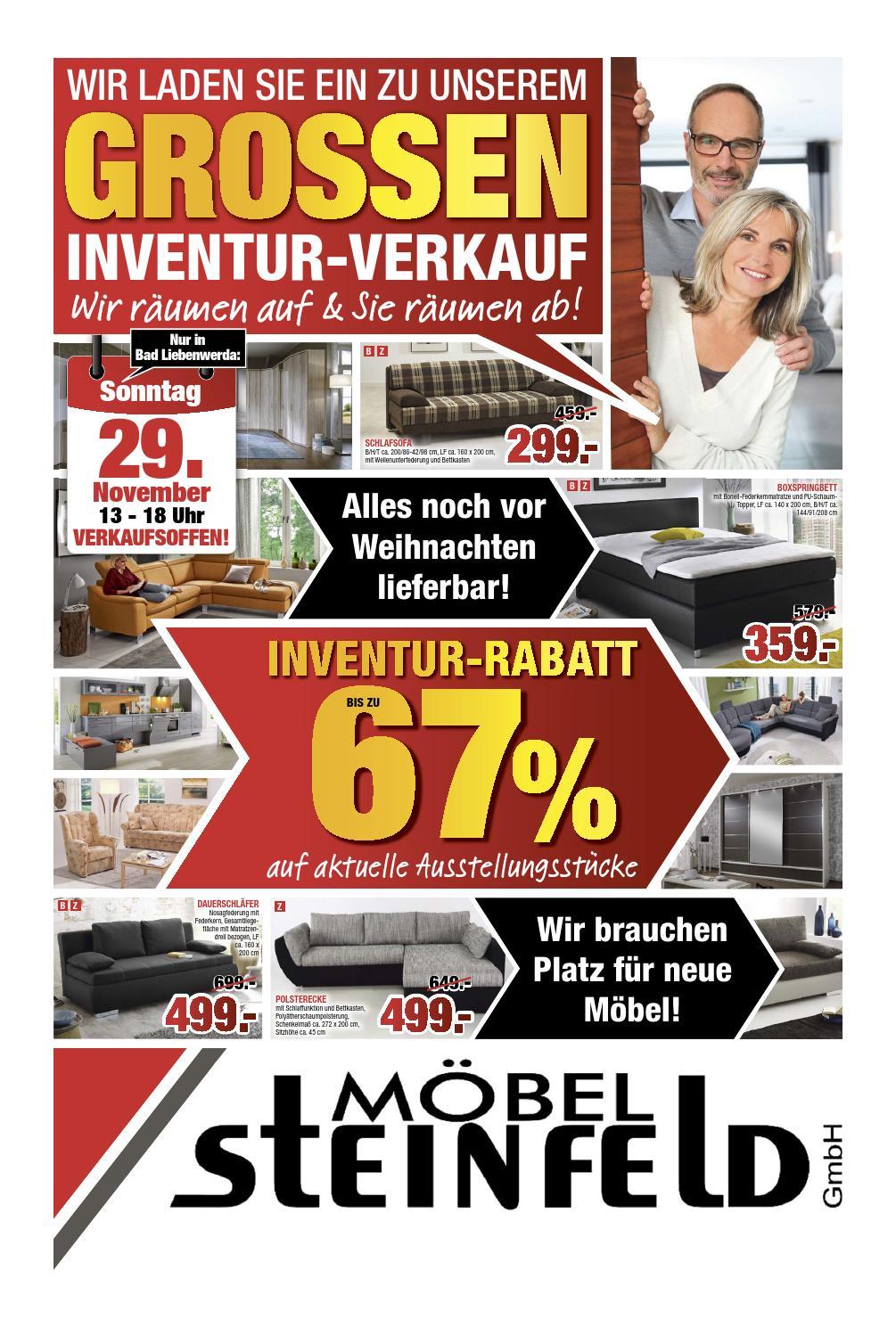 moebel steinfeld inventurverkauf 1115 by perspektive. Black Bedroom Furniture Sets. Home Design Ideas