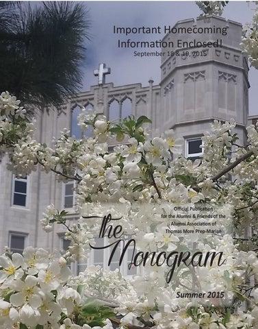 2015 Summer Monogram By Thomas More Prep Marian Issuu