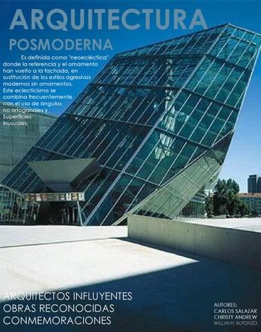 Arquitectura posmoderna by carlos salazar issuu for 5 tecnicas de la arquitectura
