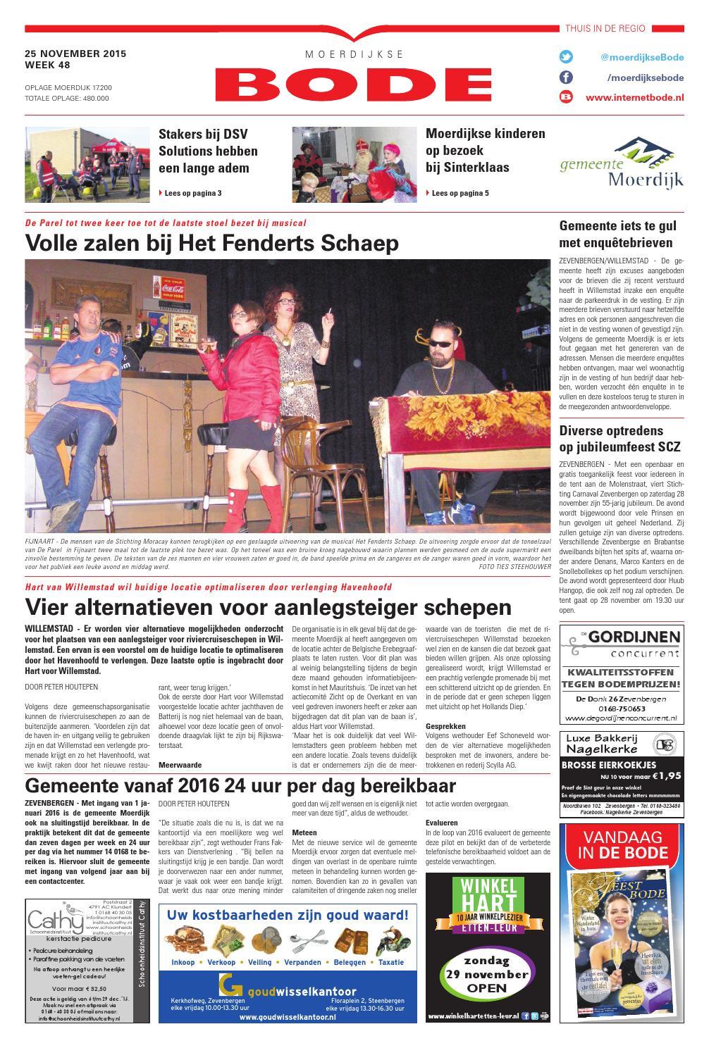 Moerdijkse Bode 25-11-2015 by Uitgeverij de Bode - issuu