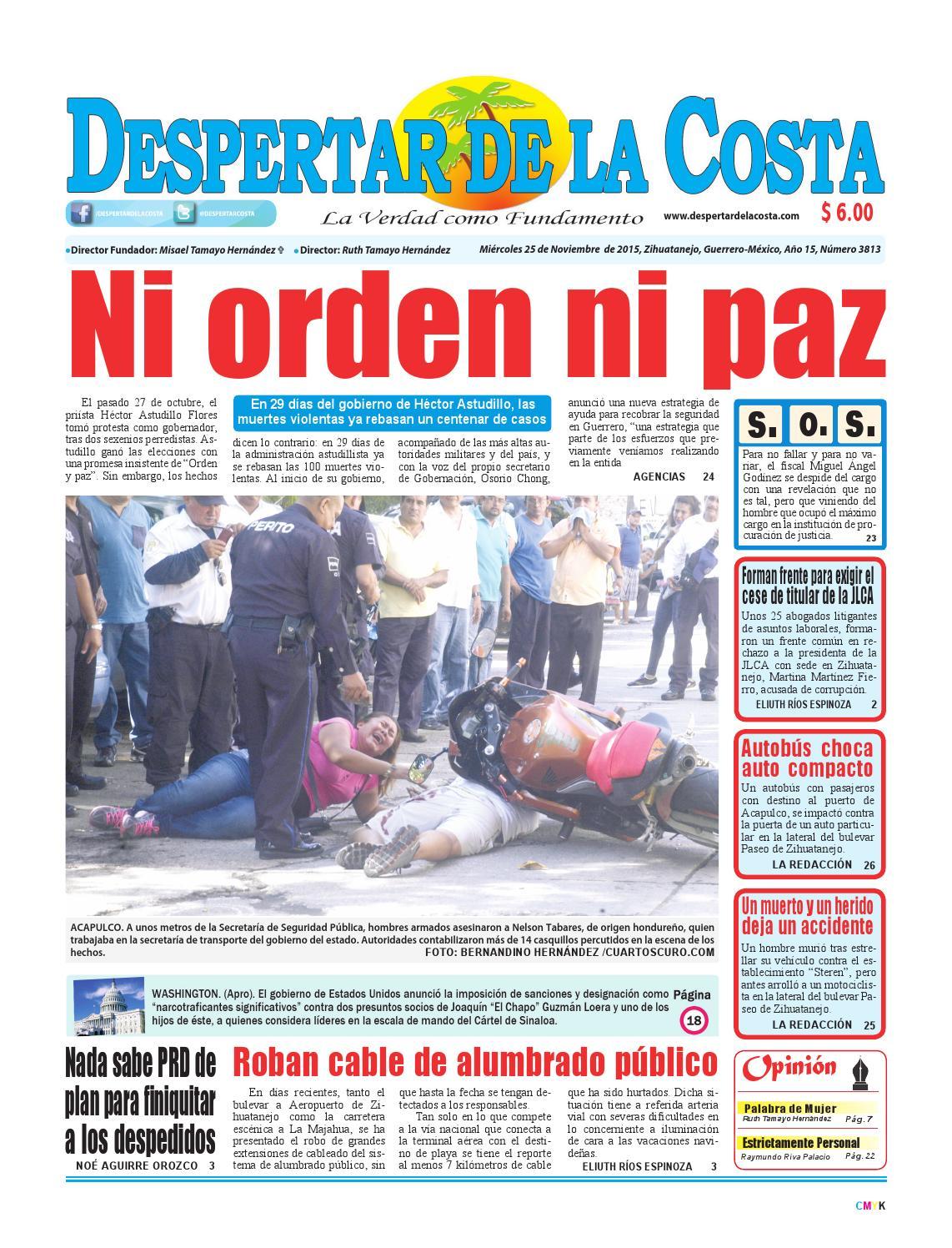 edición impresa 25/11/2015 by Despertardelacosta - issuu