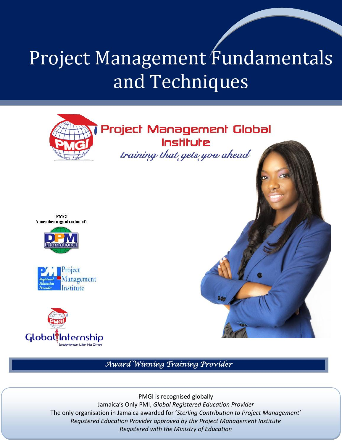 Project Management Fundamentals And Techniques Info Pack 2015 By