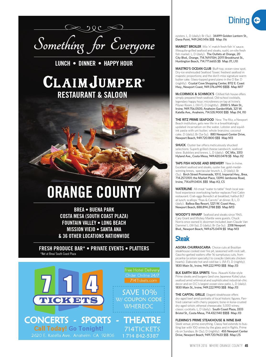WHERE Orange County Magazine Winter 2016