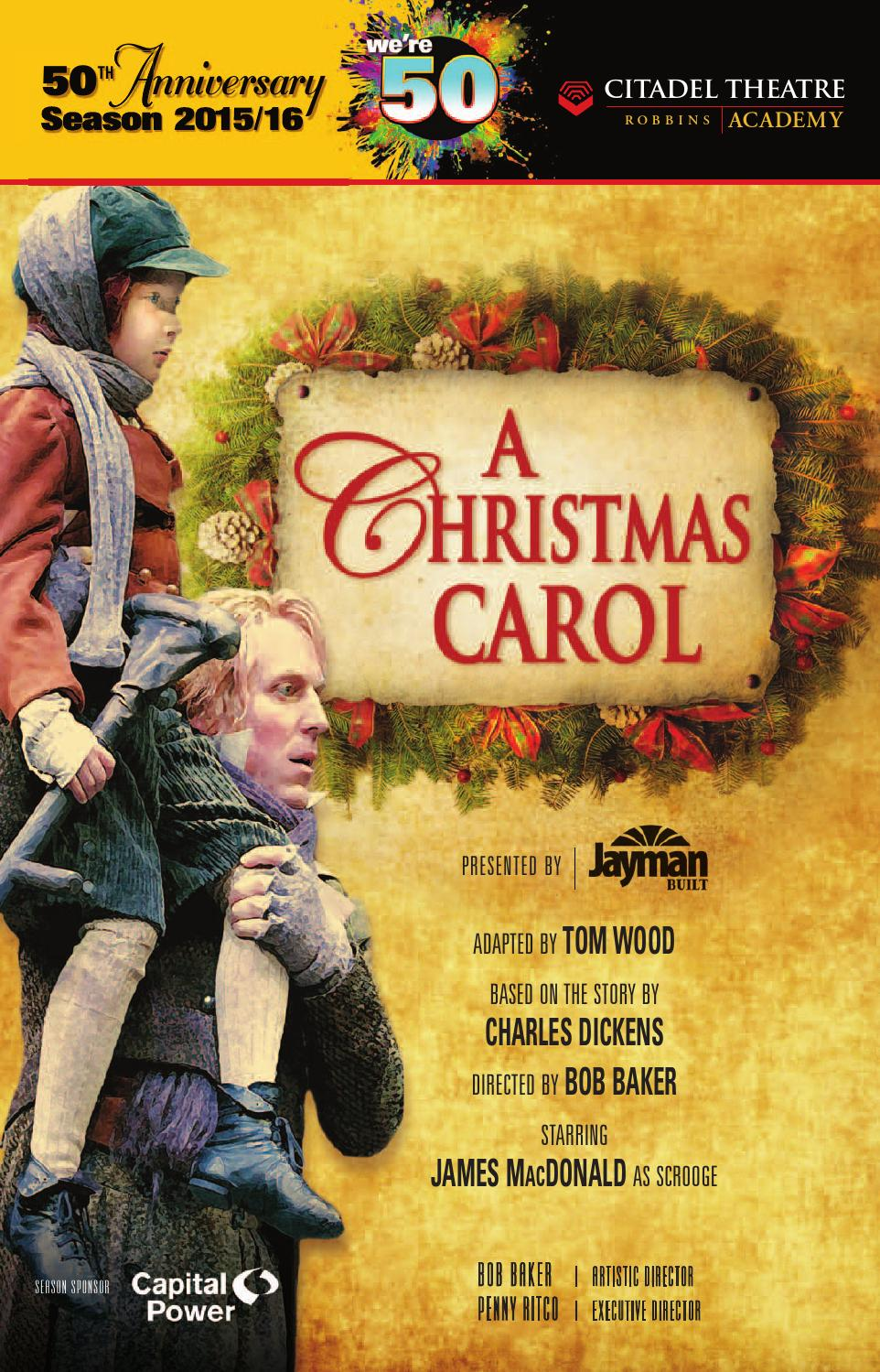 Citadel Theatre playbill - A Christmas Carol 2015 by Suggitt