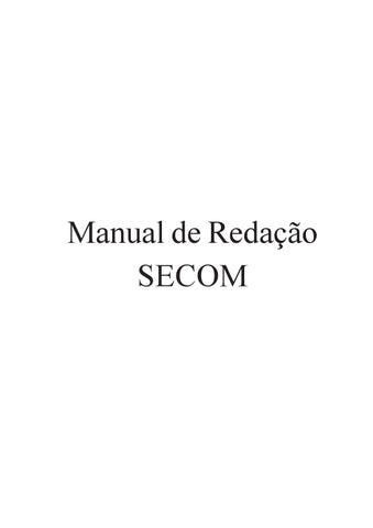 643e78b51 Manual de Redação da SECOM [Câmara dos Deputados] by Júlio César ...