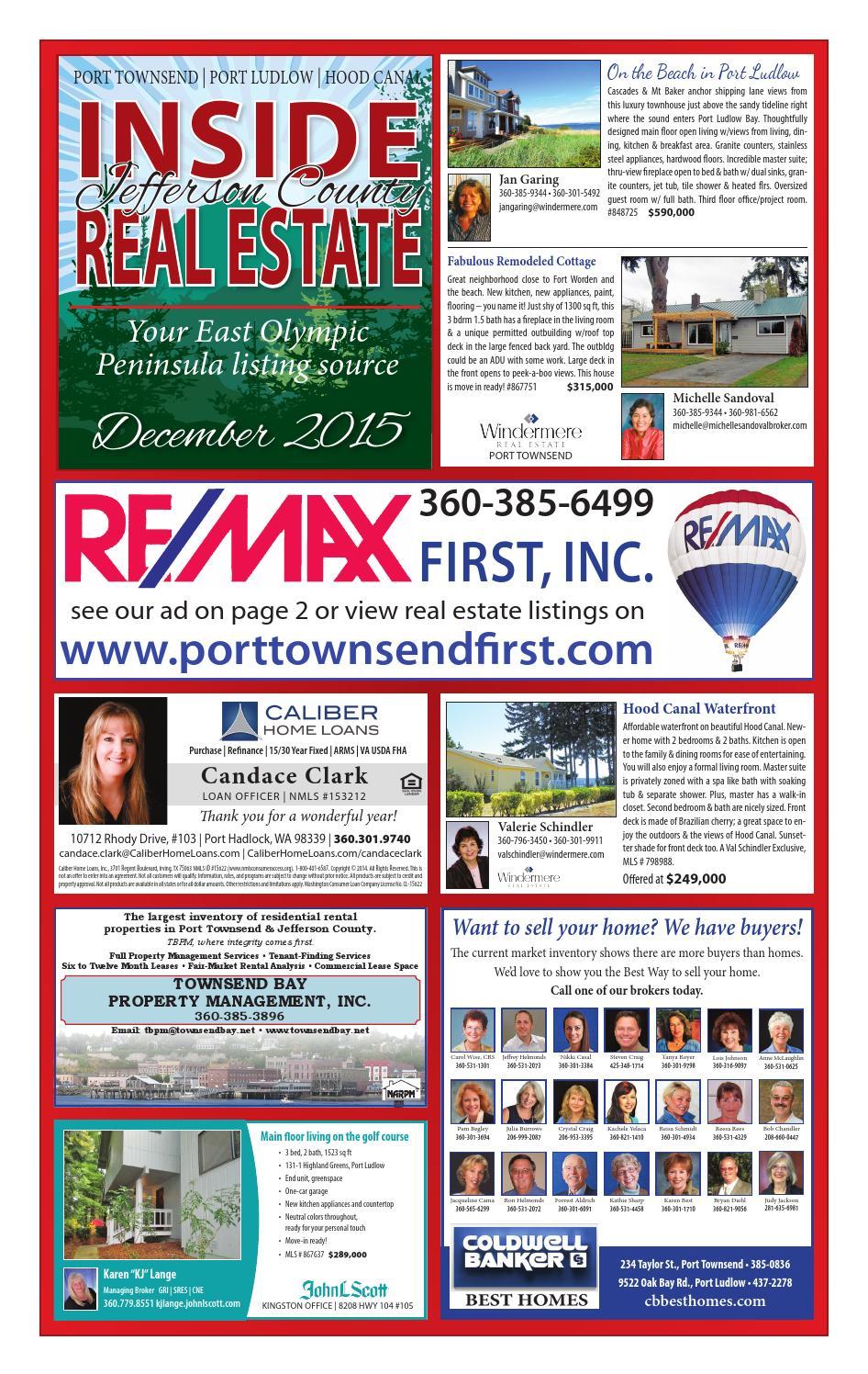 Inside Real Estate December 2015 By Port Townsend Leader