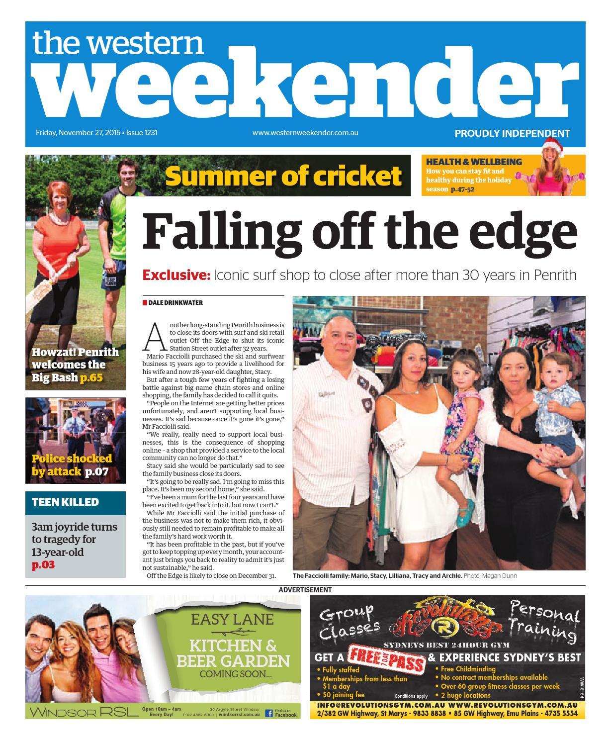 Western Weekender November 27 By Western Sydney Publishing Group Issuu