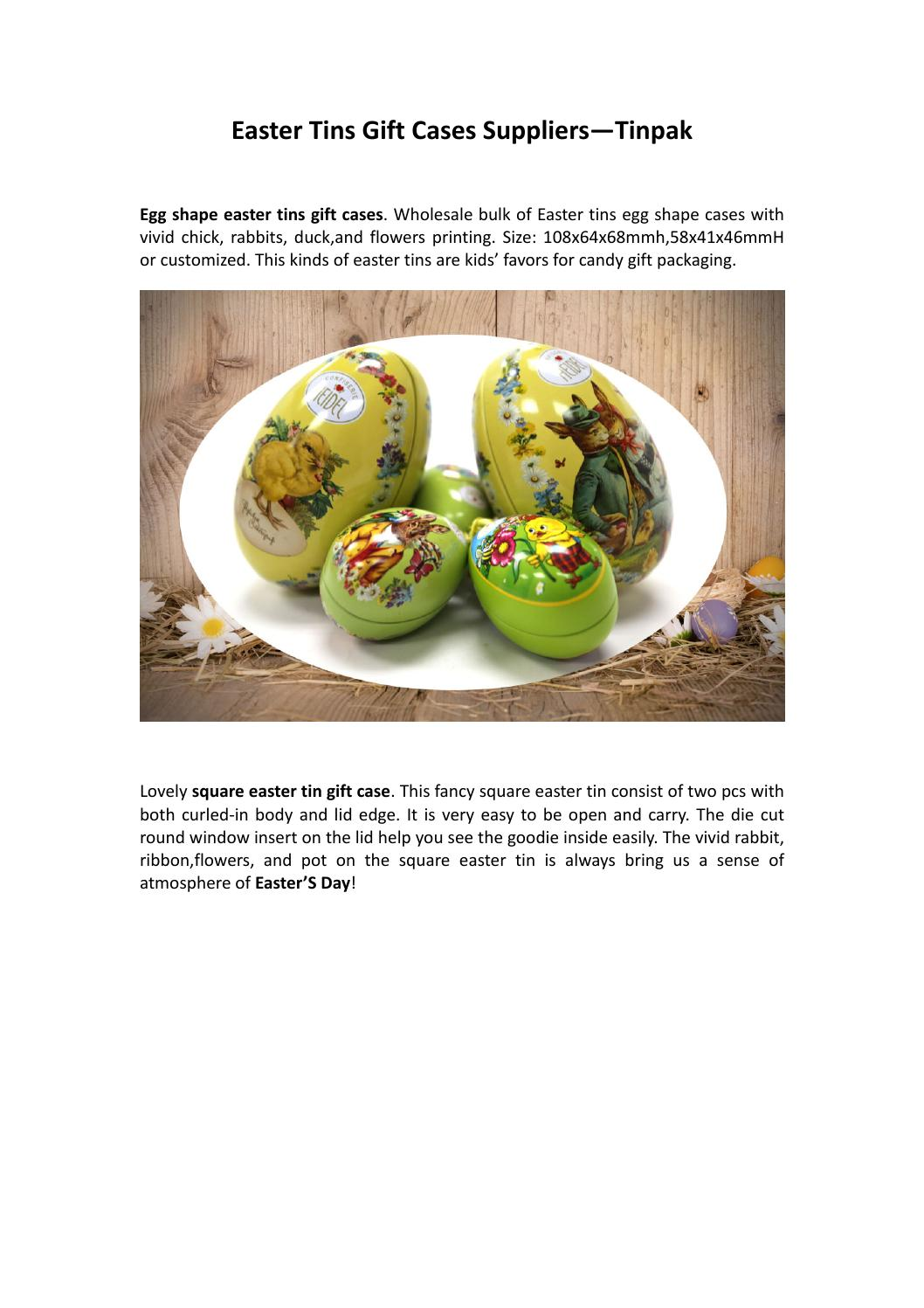 Easter Tins Gift Cases Supplier Tinpak By Tinboxes6 Issuu