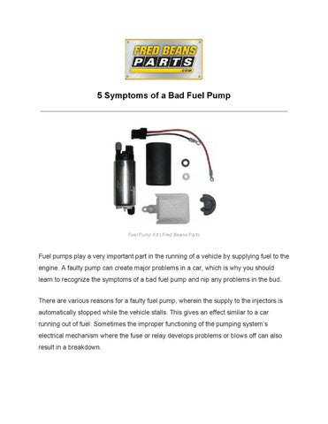 how to see if your fuel pump is bad
