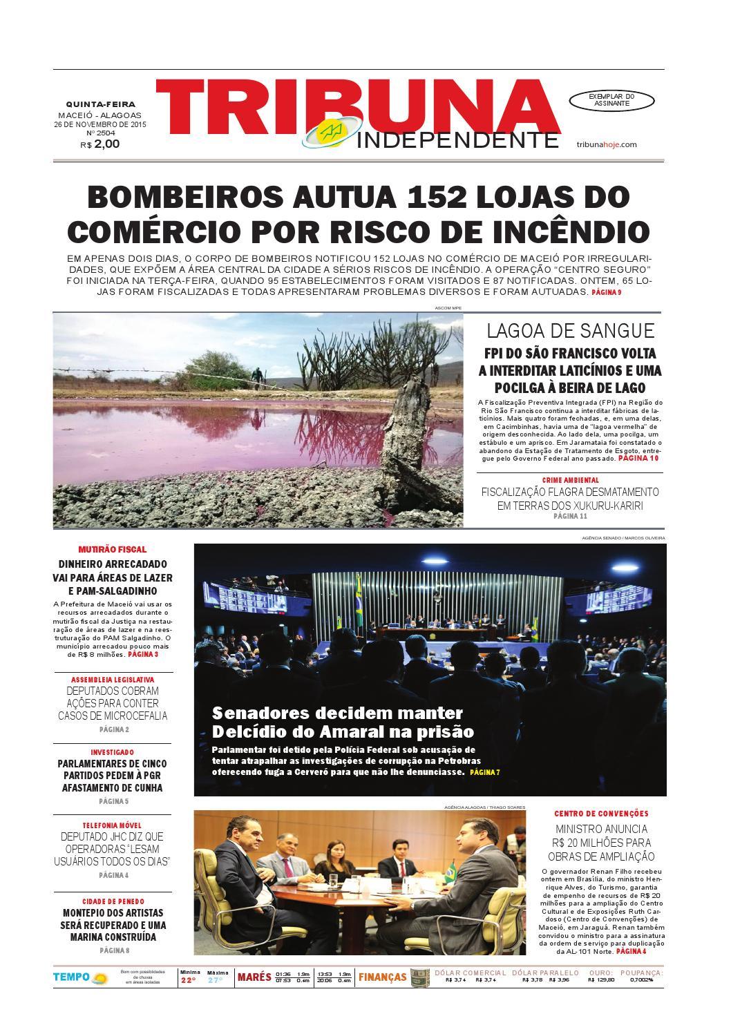 f37d92452e85c Edição número 2504 - 26 de novembro de 2015 by Tribuna Hoje - issuu