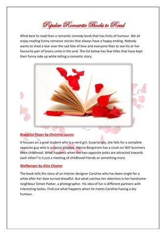 Popular Romantic Books To Read By Maria Witwiky Issuu