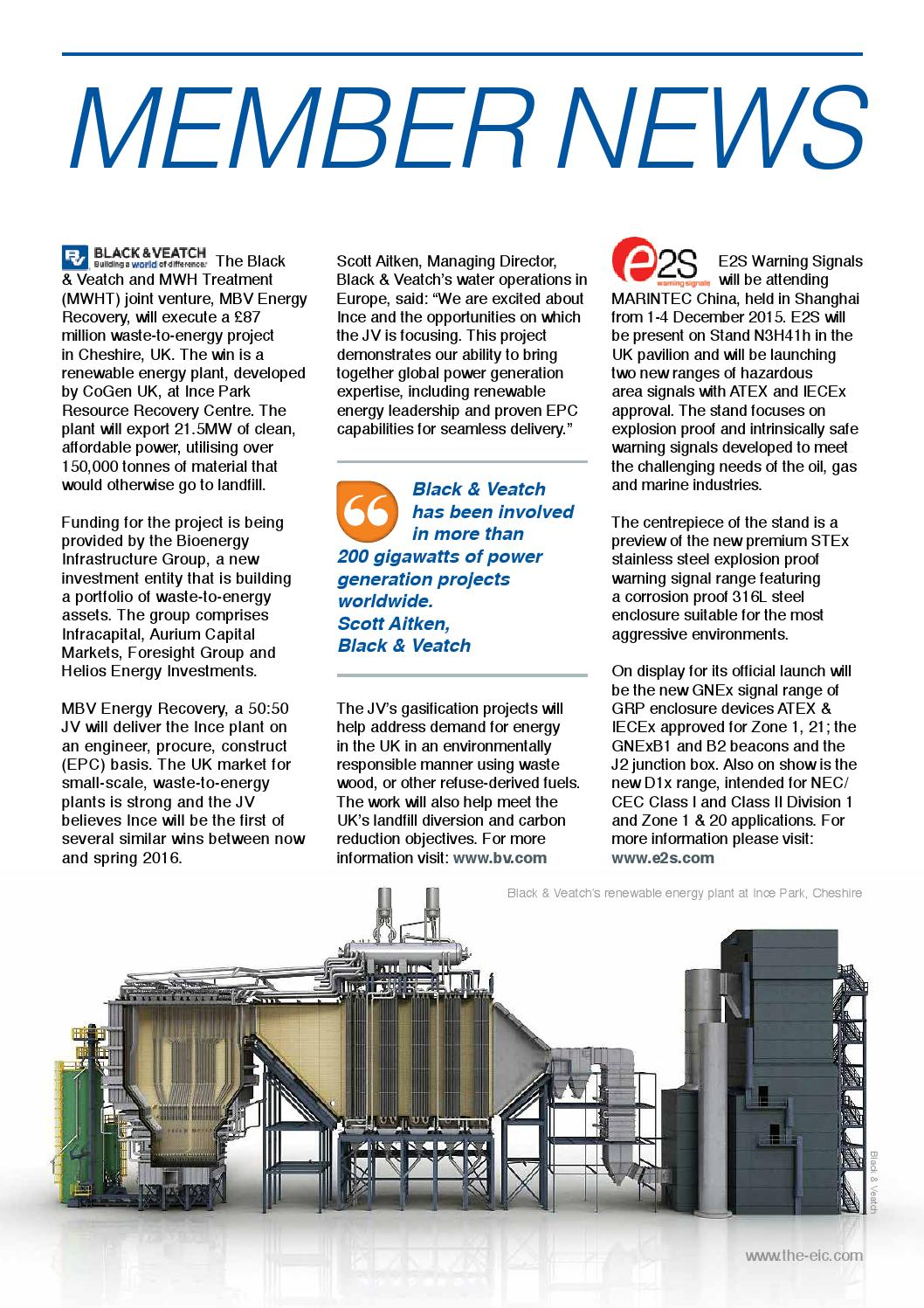 EIC Monthly News December 2015 by Energy Industries Council
